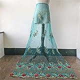 3D-Blumenstickerei Braut-Spitzenstoff mit