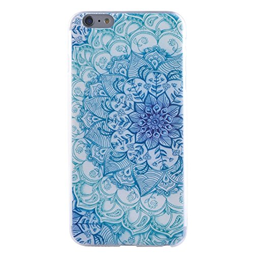 IPhone 6/6S(4.7 Pouces) Cas,Asnlove Coque TPU Doux Étui Motif de Peinture Housse Ultra Mince Ultra Léger Cover De Protection Téléphone Case Pour Apple IPhone 6/6S,L'oeil Bleu Plume De Paon couleur-5