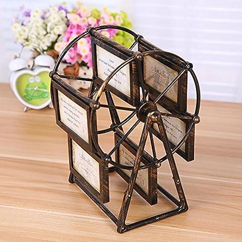 TZQ Rotierende Riesenrad-Rahmen festliche Geschenke Handwerk Gedenken Frame Ornamente Album (Craft Geschenkboxen)