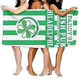 "vintage cap Beach Towel It's Always Sunny in Philadelphia Paddy's Irish Pub 80"" X 130"" Soft Lightweight Absorbent for Bath Swimming Pool Yoga Pilates Picnic Blanket Towels"