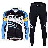 XY-QXZB Hommes Compétition-niveau à manches longues Ride Suit, Quick-Drying résistant à l'usure vélo Ride Vêtements, Convient pour le printemps été et automne , m