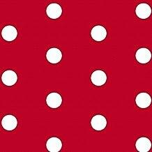 """Diseñador Tapicería, Cortina, Tela Costura - De Lunares, """"Scandi"""" Colección - Diseñado & impreso en el Reino Unido (A elegir Combinación de colores) - Rojo, Muestra"""
