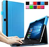 Infiland Samsung Galaxy TabPro S 12 inch Case Cover- Folio PU Leather Slim Stand Case Cover for Samsung Galaxy TabPro S SM-W708 30,7 cm (12 inch) Tablet-PC(with Auto Sleep / Wake Feature)(Black)