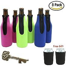 Maniche bottiglia di birra, 6 confezioni di birra dispositivi di raffreddamento Bottiglia isolante con 2 confezioni portabottiglie Raffreddatori Isolatori birra Bevo titolari Can Insulator (8 Pack)