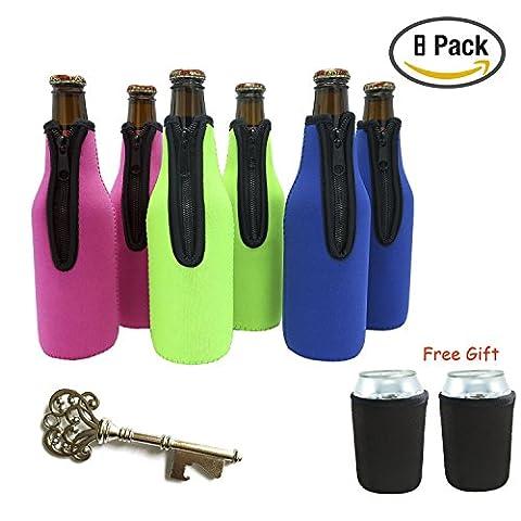 Bouteille de bière manches, 6 Packs bière Refroidisseur de bouteilles Bouteille Insulator avec 2 packs (Barche Bere)