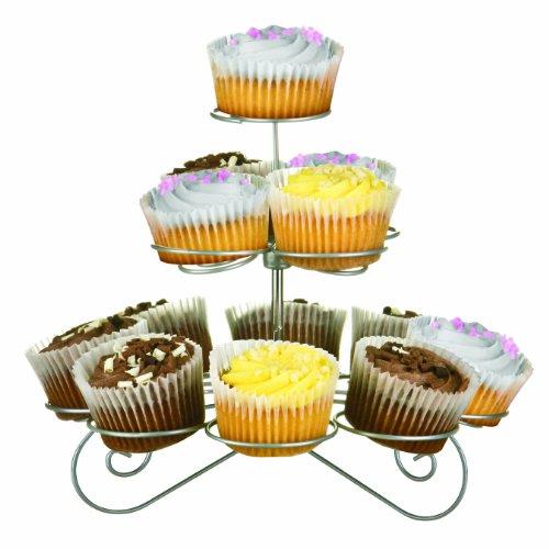 Premier Housewares 3-Tier Cupcake Stand - Chrome