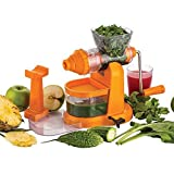Kitchen Bazaar™ Jumbo Fruit & Vegetable Hand Juicer With Steel Handle & Waste Collector (Color may vary)
