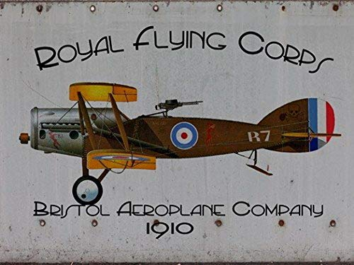 Harvesthouse Royal Flying Corps Metal Sign, Bristol Aeroplane Company, Retro Aviation History by -