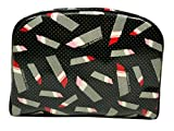 Lulu Guinness Large Cresent Pouch Pin Dot Lipstick Black