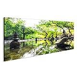 islandburner Bild Bilder auf Leinwand Zen Garten Japan Poster, Leinwandbild, Wandbilder