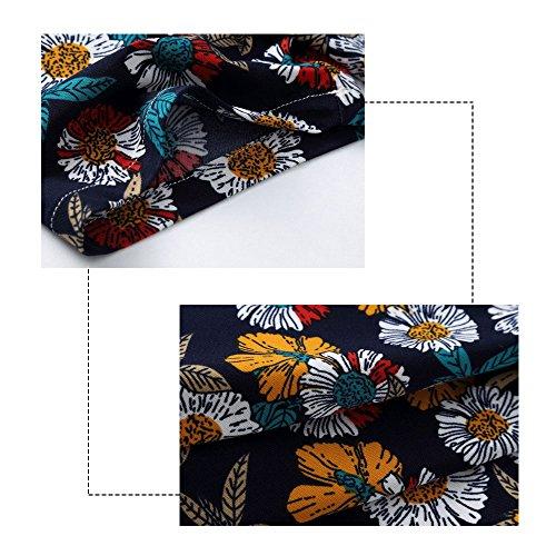 399305de4c71 ... YOUTHUP Herren Sommerhemd Hawaiihemd Kurzarm Hemd Blatthemd Freizeit  Hemd Besonders für Reise Urlaub Design 8 ...