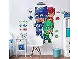 Walltastic Raumaufkleber mit Großen Figuren aus PJ Masks – Pyjamahelden, Vinyl, 7 x 7 x 52.5 cm