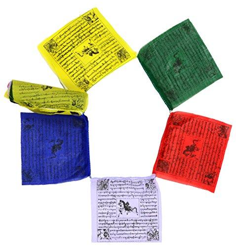 Buddhafiguren/billy held bandiere di preghiera buddista, ogni bandiera misure di 3m di lunghezza, 25x 13cm, qualità buddha decorazione