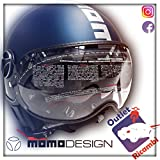 Momo Helm Fighter FGTR EVO blau matt grau Größe XL