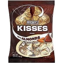 Hersheys Besos De Chocolate Con Leche Hershey S Con Almendras 150g (Paquete de 2
