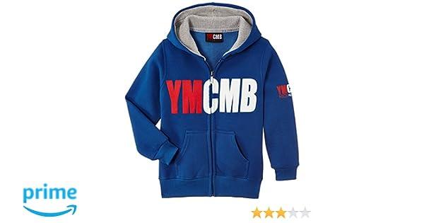 YMCMB Basic Veste à capuche zippé Enfant: : Sports
