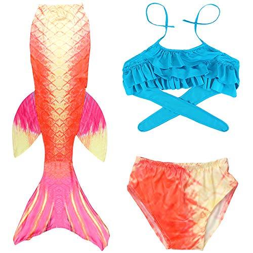 Traje de Baño Sirena de Las Muchachas Bikini Set,Traje de baño Sirena Shell Traje de baño 3pcs Bikini...