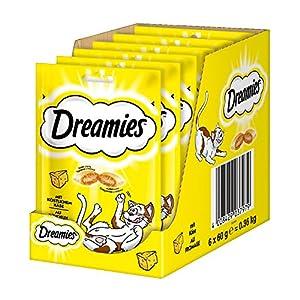 Dreamies Katzensnacks Klassiker/Katzenleckerli mit wertvollen Vitaminen und Mineralstoffen/Käse/6 x 60g
