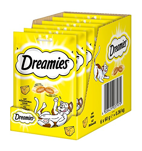 katzeninfo24.de Dreamies Katzensnacks/Klassiker Klassiker, mit Käse, 6 Beutel (6 x 60 g)
