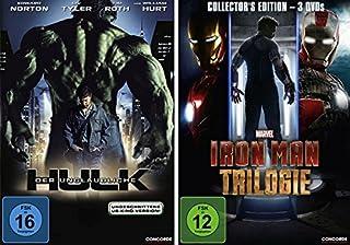 Der unglaubliche Hulk + Iron Man Trilogie (1-3) im Set - Deutsche Originalware [4 DVDs]