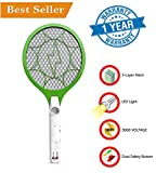 #3: Rewy Electric Insect Killer, Mosquito Killing Racket, Mosquito Bat, Mosquito Swatter, Long Lasting, Heavy Duty {Random Colour}