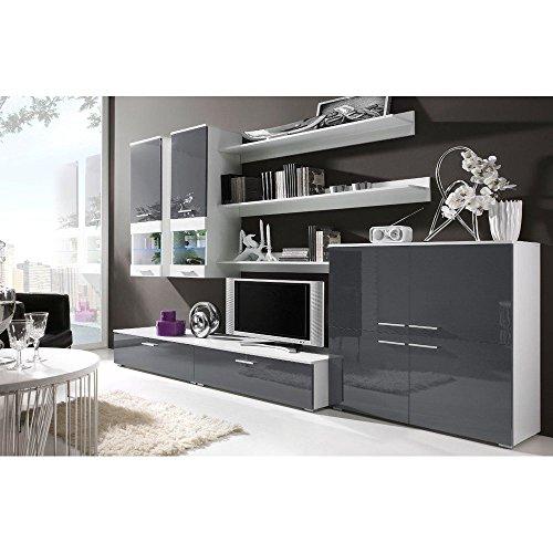 JUSTyou CAMI II Muebles de salón comedor Color: Blanco Mat / Ceniza Brillante