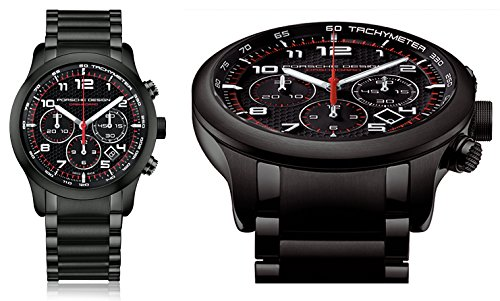 PORSCHE DESIGN Mod.DASHBOARD P6612 PVD BLACK - AUTOMATIC CHRONO ETERNA MOVEMENT. TITANIUM-ALUMINIUM PVD BLACK Case Bracelet. CARBON Dial with Red details. 42mm. Date. Sapphire glass frontback. WR 1
