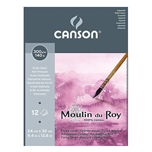 canson-moulin-du-roy-300gsm-watercolour-paper-hot-pressed-texture-size24x32cm-pad-of-12-sheets