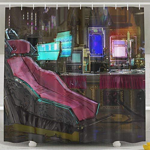 Setyserytu Cortinas de baño/Cortinas de baño, Digital Art Painting T