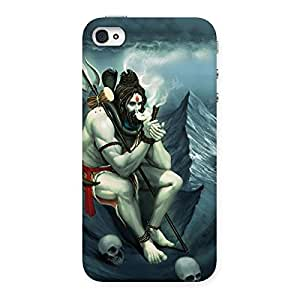 NEO WORLD Premium Lord Shiva Back Case Cover for iPhone 4 4s