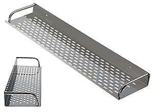 Portaspezie in acciaio inox da parete scaffale scaffale in acciaio inox 80 cm casa e - Portaspezie da parete ...