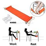 Fuß Hängematte - Tragbar & verstellbares Fußteil unter dem Schreibtisch , zusammenklappbar ABS Fußstütze ersetzen Fußablagen, Tendon Leid verbessert die Durchblutung