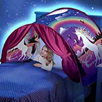 WUQIAN Kids Winter Wonderland Princess Tents Foutou Children Playhouse Pop Up Bed Tent Hot Dream Tents Household Merchandises Umbrella,unicorn