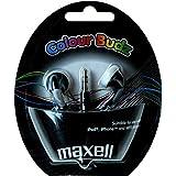 Maxell Color Budz Ecouteurs intra-auriculaires stéréo pour lecteur mp3/mp4 Noir