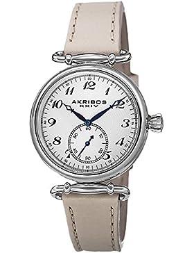 Akribos XXIV Damen ak704tn makellose Edelstahl-Uhr mit Lederband