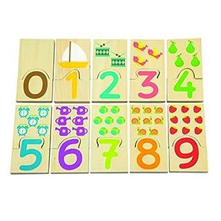 Andreu Toys 32x 14x 3cm Einsatz Zahlen Spielzeug (Mehrfarbig)