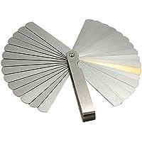 KKmoon 32pcs Latón Cuchillas Rellenador Medidor de espesor 0.04-0.88mm Medidor de espesor Herramienta de medición multifuncional