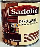 Sadolin Deko Lasur Innen, Farbton Bordeauxrot ( Mahagoni ) / 375 ml /schützt Holz vor Schmutz u. Kratzern / Wasserabweisend /