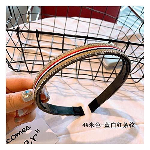 TDTSHOP Frauen stirnband Haarnadel mit Nadelstreifen Koreanische Haarschmuck Koreanische Version des Stirnbandes Einfache Bohrstange mit eingelegtem Bit Hoop Headwear Curling Anti-Rutsch