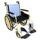 T-Rollstühle Zurück faltender Rollstuhl, Wasserdichtes hinteres Kissen, Aluminiumlegierung, übergroßer Reifen