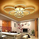 ONLT Plafoniera LED da soffitto, 8 Teste Super-sottile cerchio Soffitto,Le luci possono essere regolate in tre colori,Moderni lampadari di luce Luce per soggiorno,sala da pranzo