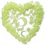 303tlg. Leuchtsterne Wandtattoo Leuchtsticker DIY Selbstklebende Sternenhimmel nachtleuchtend fluoreszierende Sticker mit Doppelseitigen Klebepunkte