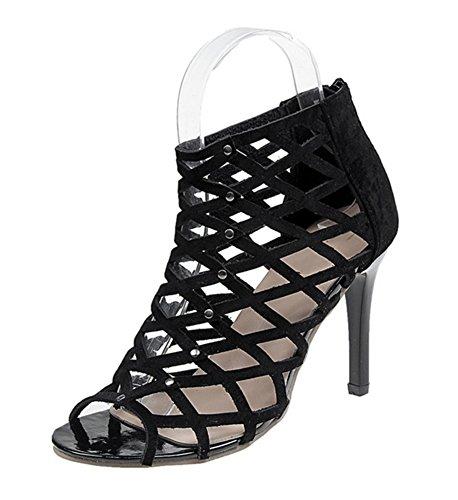 NVXIE Sommer Plaid Frauen Sandalen Nachtclub Mode High Heels Tipp Frauen Frauen Brille mit Schuhen 34-38