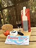 Portable Wine Bottle For Festivals, Camping, Beach Parties And Picnics - A Foldable Wine Bottle That Holds a Full 750 ml Of Wine. Comes with a FREE set of six Flame Retardent candle bags to add atmosphere and light to any event.