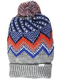 Levi's Hats Fairisle Bobble Hat - Grey-Blue