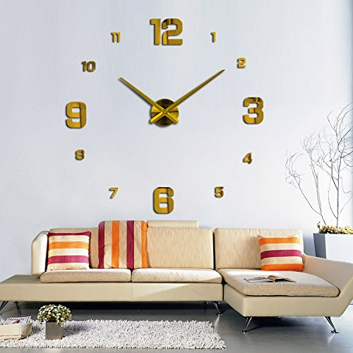 Shuangklei Aufkleber Wohnzimmer Einrichtung Diy Großer Spiegel, An Der Wand Uhr Exquisite Digitale Wanduhren Uhren - Karikatur-wand-uhr