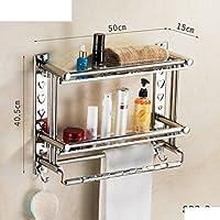 bagno in acciaio inox muro del bagno wc scaffalature/ Doccia cremagliera bagno asciugamano-F