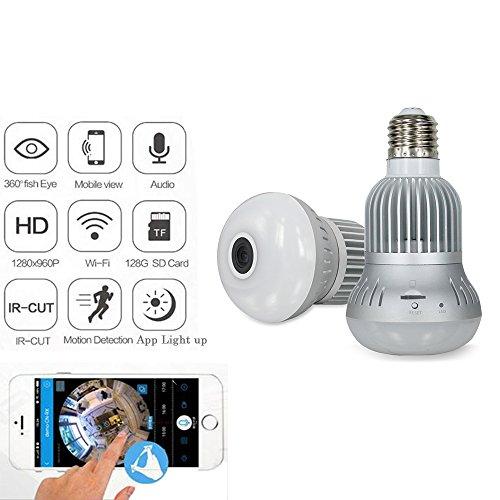 Jiusion-Fisheye-360-grados-HD-inalmbrico-WIFI-IP-ocultos-cmara-panormica-espa-Cam-960P-HD-bombilla-lmpara-interior-vigilancia-de-seguridad-para-iPhone-Android-PC