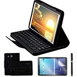 REAL-EAGLE Coque Galaxy Tab E 9.6 QWERTY Clavier Bluetooth Étui Housse, sans Fil...