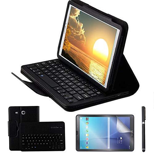 tastiera tablet samsung REAL-EAGLE Custodia Galaxy Tab E 9.6 Bluetooth Tastiera con Screen Protector & Stylus